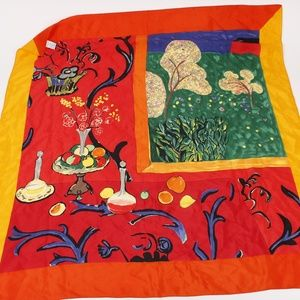 Vintage Metropolitan Museum of Art 100% Silk Scarf
